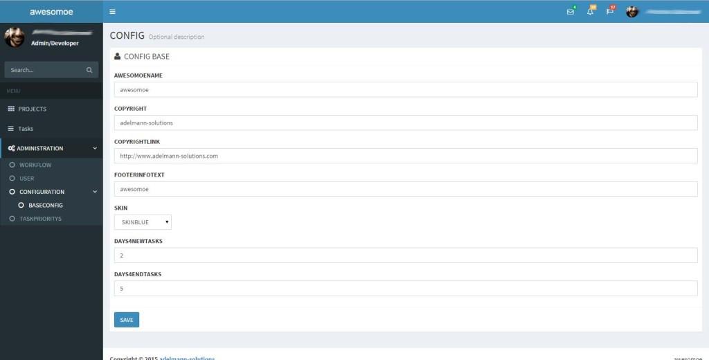 Admin Basis Konfiguration